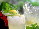 Fresh Lemonade -- quick and easy.  Can't get enough of this lately.