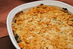 Broccoli and blue cheese casserole