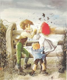 janet and anne grahame johnstone - Bing images Art And Illustration, Illustrations Posters, Vintage Illustrations, Mermaid Stories, Glitter Graphics, Vintage Art, Vintage Books, Cute Art, Fairy Tales