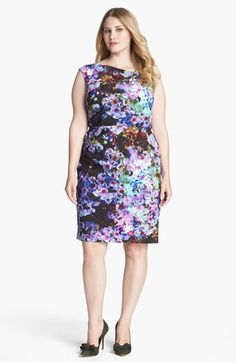 Ivy & Blu for Maggy Boutique Print Satin Sheath Dress (Plus Size) available at #Nordstrom