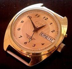 "Rare Russian watch "" Slava "". №427  automatic winding indicator of date.2427me #Slava #Casual"