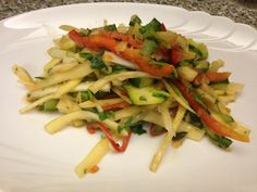 Thai Som Tam salad featuring green papaya, garlic, lime, peppers and tomatoes (sent in by Melissa Phillips)