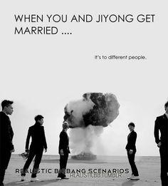 Sad but true-Big Bang scenarios | kpop scenarios Gd Bigbang, Daesung, Big Bang Scenarios, I Fall In Love, Falling In Love, Ji Yong, G Dragon, Got Married, Bangs
