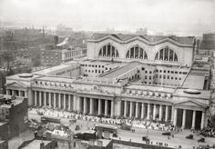Pennsylvania Station in New York as seen from Gimbel's department store circa 1910.