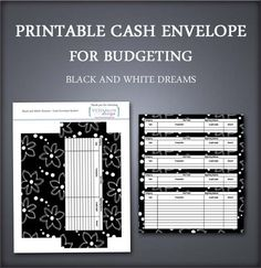 Organize your cash for different spending categories and keep better track of your budget with these free printable cash envelopes. Envelope Budget System, Cash Envelope System, Budget Envelopes, Money Envelopes, Monthly Budget Printable, Free Printables, Budgeting System, Budgeting 101, Household Notebook