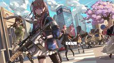 Mobile and Desktop Wallpaper HD Anime Military, Military Girl, Guerra Anime, Warrior Girl, Girls Frontline, Character Wallpaper, Female Anime, Awesome Anime, Anime Scenery