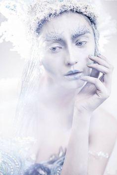here is a portrait of Ice Queen :) Model: Kasia Chojnacka HMUA/Designer: Jolanta Zglobicka Makeup Art, Hair Makeup, London Winter, Fantasy, Ice Queen, Creative Makeup, Headgear, Make Up, Photoshoot