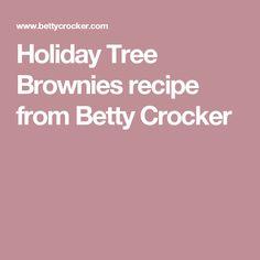 Holiday Tree Brownies recipe from Betty Crocker