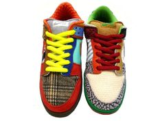 NIKE SB WHAT THE DUNK  white/college blue-chrome-deep red