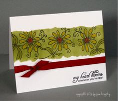 """Need to make a couple of quick and easy """"Thank You"""" cards.  This should do the trick.  Check out the video tutorial at stamptv.ning.com"""
