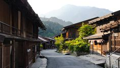 Tsumago, One of the best preserved post towns in Japan, Kiso Valley, Nagano