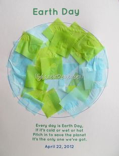 Earth Day Craft for Preschoolers:Tissue Paper Earth #EarthDay