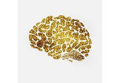 gold brain icon. Christmas Icons. $7.00