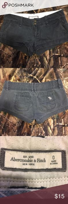 Abercrombie & Fitch Chino Shorts Abercrombie & Fitch brand chino shorts. Color is navy blue. No stains, rips, etc. Size 0 Abercrombie & Fitch Shorts