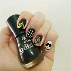 Nightmare Before Christmas nail art!