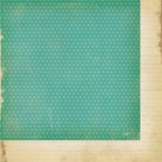 Simple Stories - Fab-U-lous Collection - 12 x 12 Double Sided Paper - Teal Dot at Scrapbook.com $0.99