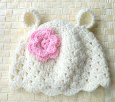 Crochet Animal baby hat Kids  Baby girl Bear Children by Ebruk, $20.00