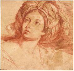 Domenichino | 1581-1641 | Head of a Sibyl | The Morgan Library & Museum