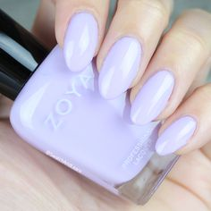 Zoya Abby from the Charming Collection is a great transition hue because the whisper-soft lavender is white-based and wintry, yet has enough saturation to keep the Easter bunny hopping! (See collection swatches on SwatchAndLearn.com.) #zoyaabby #zoyacharming #everydayzoya #nails