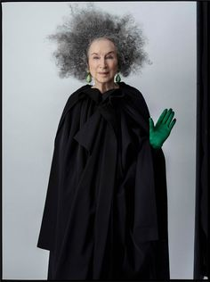 LOVE THIS: Margaret Atwood by Tim Walker — That's Not My Age - - Margaret Atwood steps into the fantastical world of Tim Walker in this wonderful photoshoot and front cover for the Sunday Times Style magazine. Margaret Atwood, Fawcett, Tim Walker Photography, Philip Treacy Hats, High Fashion Photography, Glamour Photography, Lifestyle Photography, Editorial Photography, Concert