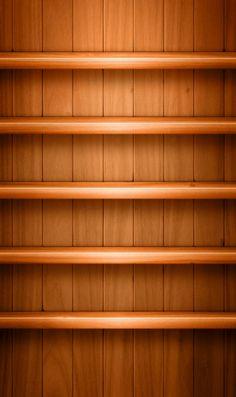 シンプルな木の棚のiPhone壁紙 | 壁紙キングダム スマホ版