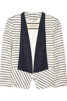 MALENE BIRGERE striped woven jacket