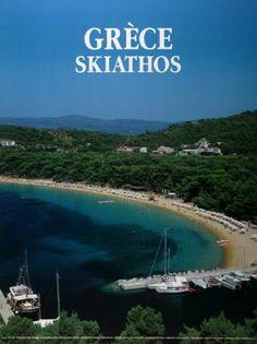 GRECE 2000. SKIATHOS (ΚΟΥΚΟΥΝΑΡΙΕΣ). Φωτογράφος ο Γ. Καβαλλιεράκης. Old Posters, Travel Posters, Vintage Posters, Skiathos, Sandy Beaches, Greek Islands, Vintage Travel, Tourism, The Past
