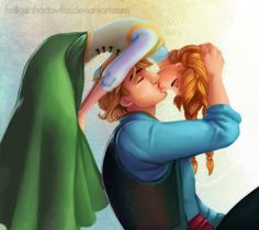 Fantastic Frozen Fan Art! And finally we have this incredibly sweet piece featuring our favorite Disney couple—Anna and Kristoff, sharing a Spider-Man kiss. We can't tell you how hard we d'awwwed at this.