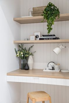 a beautiful modern country vibe study nook Home Office Design, Home Office Decor, House Design, Engineered Timber Flooring, Diy Rangement, Study Nook, Office Nook, My New Room, Home Interior