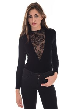Womens Nix Romantic Flocking Lace Velvet Body | MOTEL Rocks | DIZEN