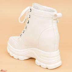 Ghete cu Platforma Dama QQ11 White (000) Mei Wedges, Search, Sneakers, Shoes, Fashion, Tennis, Moda, Slippers, Zapatos