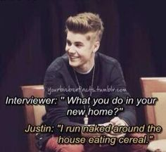 "Media: ""Justin Bieber's house is full of drugs and he always takes them"" In reality:"