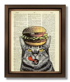 PRINT & POSTER  Cat Poster Cat print Cat Retro print by popcapopca, $10.00