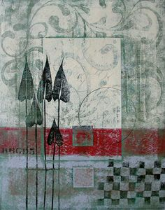 Divested Interests - a monotype by Anne Moore