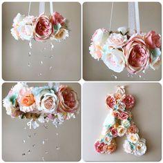 Nursery Letters Flower girl gift flower letters by PaulettaStore