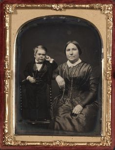 "sisterwolf: "" Tom Thumb and his Mother - c 1850-55 """