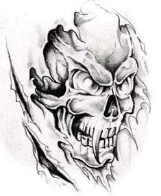 Scary Skull Tattoos: Horrible Skull Tattoo ~ Tattoo Design Inspiration