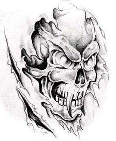 Scary Skull Tattoos: Horrible Skull Tattoo ~ Tattoo Design Inspiration