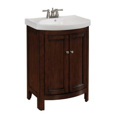 "allen + roth 23-3/4"" Midnight Cherry Moravia Bath Vanity with Top"