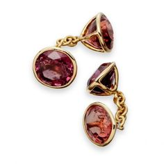 Spinel cufflinks in 18ct gold with diamond accent from Astley Clarke Aravalli