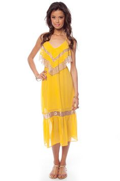 Lace and Ruffle Cami Maxi Dress $30 at www.tobi.com    I want it in white !