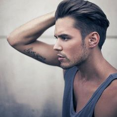 Good looking hair and a bicep tattoo