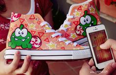 Cut The Rope Shoes by Bobsmade.deviantart.com on @DeviantArt