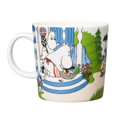 Moomin Summer Mug 2018 by Arabia - Going on vacation – The Official Moomin Shop Moomin Shop, Moomin Mugs, Tove Jansson, Scandinavian Living, Nordic Design, Branding Design, Vacation, Tableware, Kitchenware