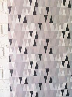 Triangles blues wallpaper - Emily Ziz