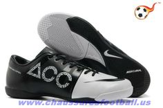 new product 1f824 a38d9 Nike GS Vert Speed Concept II ACC IC Blanc Noir FT6842 Indoor Football Shoes,  Indoor