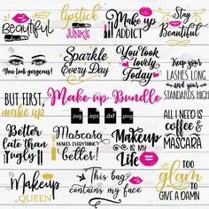 Cricut Vinyl, Svg Files For Cricut, Cricut Fonts, Cricut Craft, Cricut Monogram, Vinyl Decals, Makeup Jars, Makeup Brushes, Creer Un Site Web