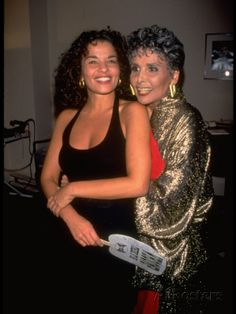 Lena Horne Hugging Daughter, Writer Gail Lunet Buckley, after Concert at Carnegie Hall, NYC