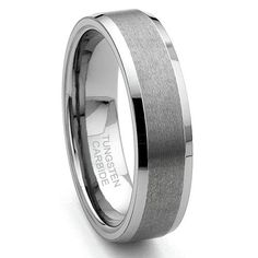 Eric Designs Tungsten Diamond Pattern Wedding Band Ring