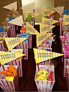 Great favor idea for any kids party- can get this stuff cheap at oreiental trading. Kids Carnival party.